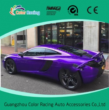 1.52*20m Purple Glossy Candy Colors Vehicle Vinyl Wrap With Air Drain