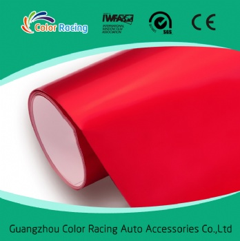 1.52*20m Red Glossy Car Color Change Bubble Free Vinyl