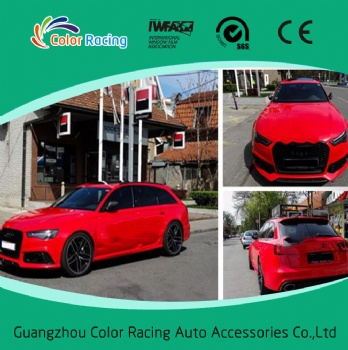 High Glossy Candy Red Vinyl Full Car Body Wrap Vinyl Rolls