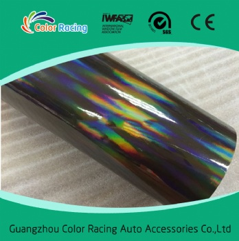 Premium Laser Chrome Car Wrapping Vinyl Holographic Rainbow Film Foil For Car Wrap