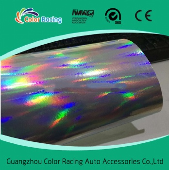 Best Quality 3 Layers Black Chrome Holographic Vinyl Wrap Rainbow Laser Vinyl