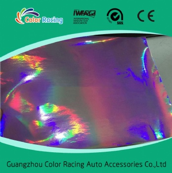 1.52X20M/Roll New Fashion design color changed chrome laser holographic rainbow