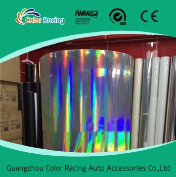 High reflective rainbow chrome chameleon laser holograph vinyl for car body decoration