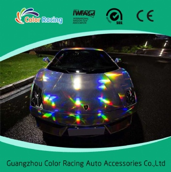 High Reflective Rainbow Chrome Chameleon Laser Holograph Vinyl
