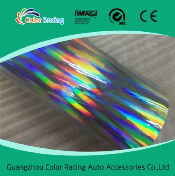 High reflective printable rainbow chrome chameleon laser holograph vinyl