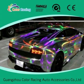 1.52x20M Shiny Laser Chrome Holographic Rainbow Vinyl For Car Whole