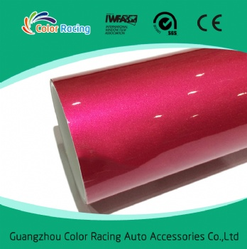 Hot Sales Products Fashion Shiny 1.52*20m Metallic Red Pearl Chrome Vinyl