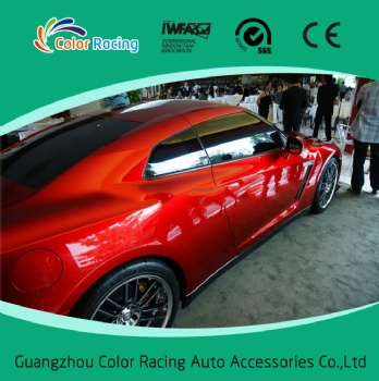 Hot Sale high glossy pearl matallic chrome red car vinyl wrap with air channel