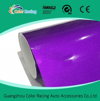 Hot Sales Color Glossy Shiny 1.52*20m Pearl Metallic Purple Chrome Wrapping