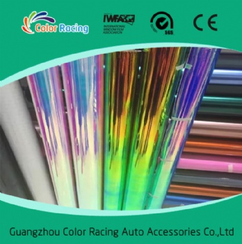 Air Bubble Free 1.35*20m Chrome Rainbow Color Vinyl For Car Wrapping