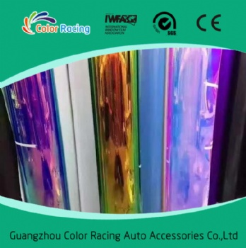 Self adhesive 1.35*20m Chrome Rainbow Color Vinyl For Car Wrapping