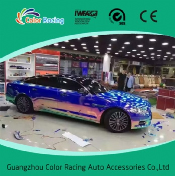 Fashion Car Vinyl Wrap Chrome Holographic Rainbow Film