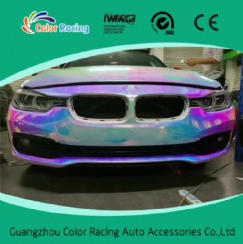 Air bubble free holographic rainbow film foil for car wrap vinyl