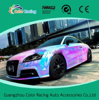 New product self adhensive 1.35*20m holographic film