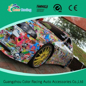 Customized with Air Bubble Free 1.52*30m Graffiti Vinyl Car Sticker
