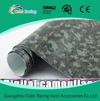 1.52x30M Self Adhesive High Quality 3M auto vinyl wrap camouflage