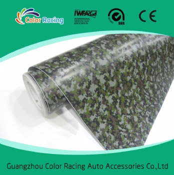 Self Adhesive High Quality camouflage color vinyl auto wrap material