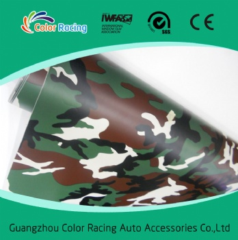 With air channel good quality 1.52x30m camouflage auto wrap sticker