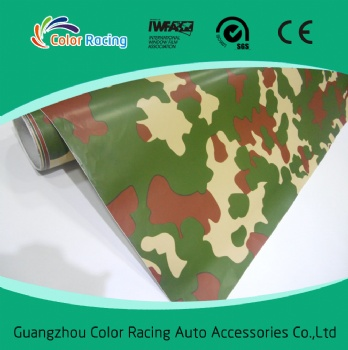 1.52x30m Self Adhesive High Quality camouflage auto wrapping film sticker