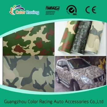 Air bubble free good quality vinyl car wrap camouflage