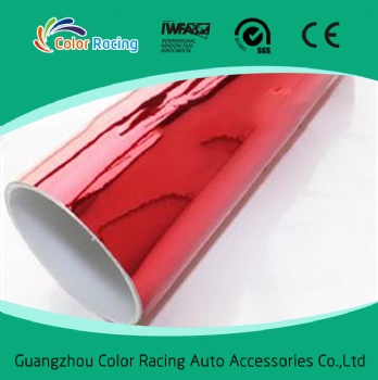 Good shrinkability 1.52x30m self adhesive chrome vinyl car body vinyl wrap
