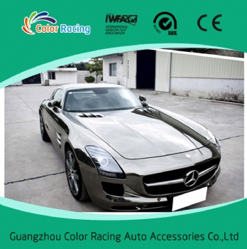 1.52x30m self adhesive chrome car wrap vinyl with good price