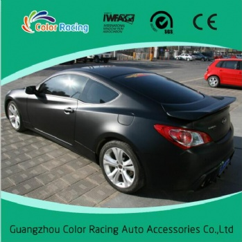 1.52x30m easy to intall glossy black vehicle wrapping vinyl film
