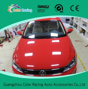 Easy to install air bubble free 60inch x100ft auto vinyl wrap gloss red