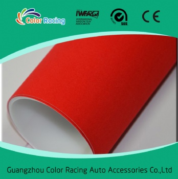 Special appearance for your car red Fabric Velvet Car Wrap