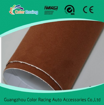 Car color changing coffee Fabric Velvet Car Wrap