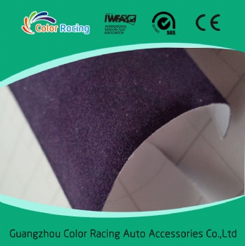 Quality assurance hot selling purple Fabric Velvet Car Wrap