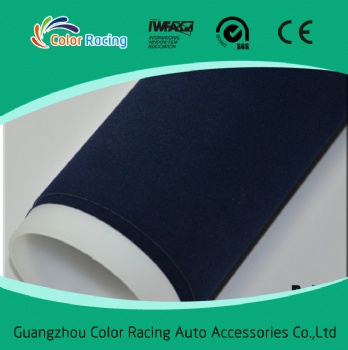 Popular car color change materials dark blue Fabric Velvet Car Wrap