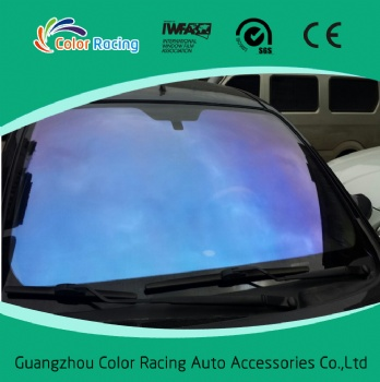 60% visible light transmission chameleon car window film purple