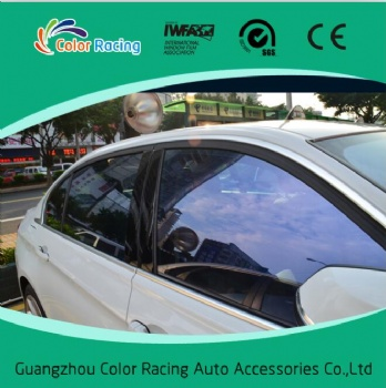 Self adhesive blue chameleon window tinting film