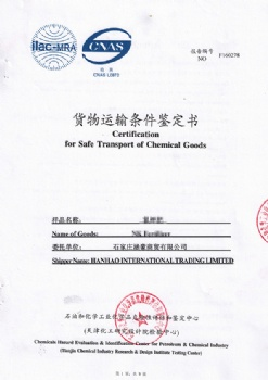 Certification for Safe Transport